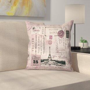 Nostalgic Paris Throw Pillow