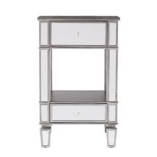 Comparison Netherby Mirrored End Table By House of Hampton