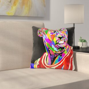 Jordan Portrait Drome Throw Pillow By East Urban Home