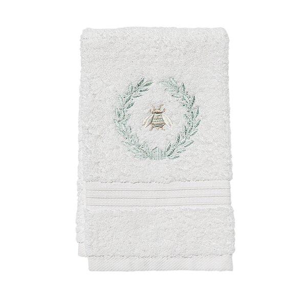 White Fleur De Lis Fingertip Towels