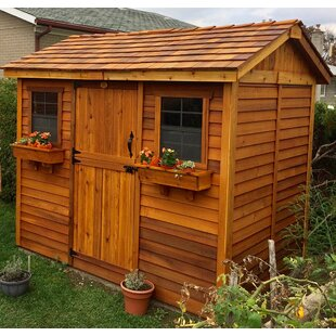 Outdoor Living Today Cabana 9 ft. W x 6 ft. D Wooden Storage Shed