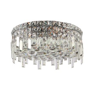 Willa Arlo Interiors Anjali Round 5-Light Flush Mount