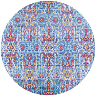 Beyer Blue/Pink Indoor/Outdoor Area Rug