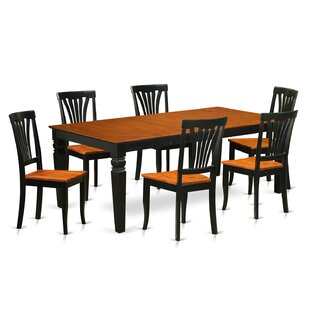 Beesley 7 Piece Extendable Solid Wood Dining Set DarHome Co
