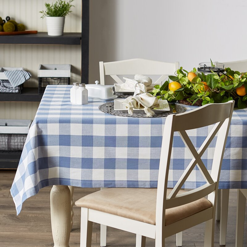 Marian Checkered 100% Cotton Tablecloth