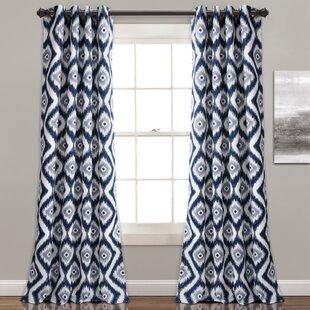 Castleton Ikat Room Darkening Grommet Curtain Panels (Set Of 2)