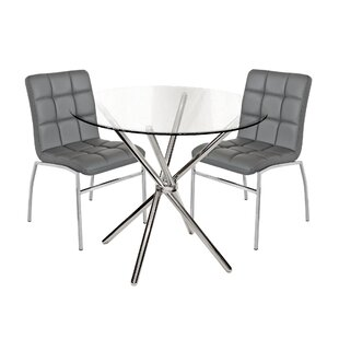 Burgess Hill Circular Dining Set With 2 Chairs By Metro Lane