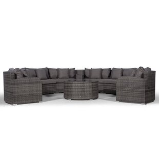 Woody 8 Seater Rattan Conversation Set By Sol 72 Outdoor