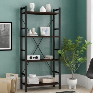 Illinois Dark Walnut Etagere Bookcase
