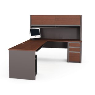 Aurea L-Shape Desk Office Suite with Hutch