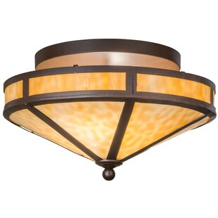 Meyda Tiffany Mission Prime 2-Light Semi Flush Mount