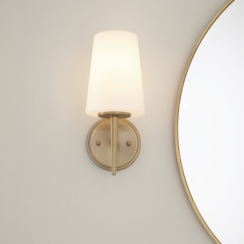 Aimee 1 Light Dimmable Armed Sconce Reviews Joss Main