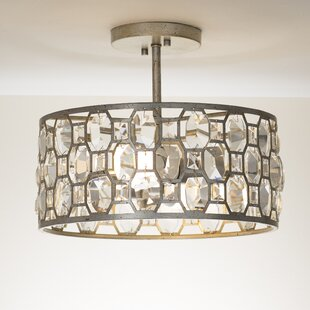 Caspian 2-Light Semi Flush Mount by Willa Arlo Interiors