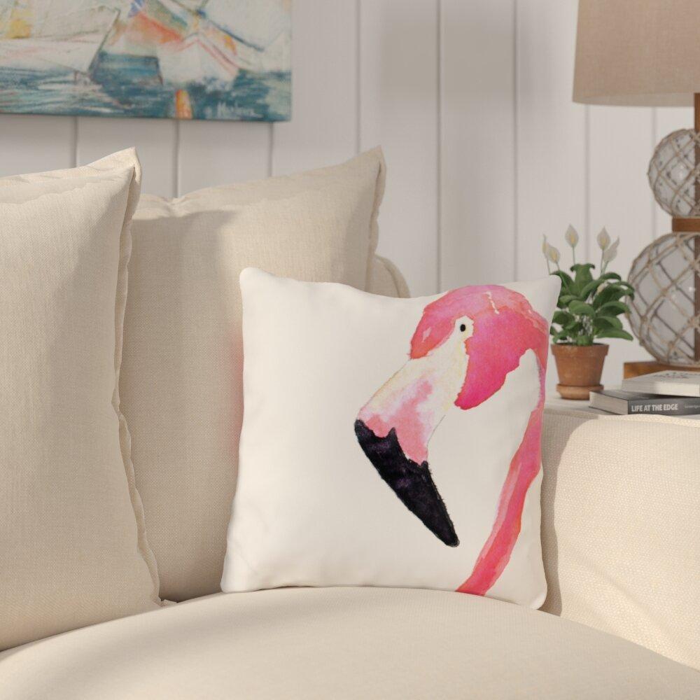 Bay Isle Home Wirtz Fabulous Flamingo Outdoor Throw Pillow Reviews Wayfair