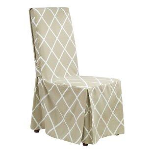 Awe Inspiring Lattice Parson Chair Skirted Slipcover Andrewgaddart Wooden Chair Designs For Living Room Andrewgaddartcom