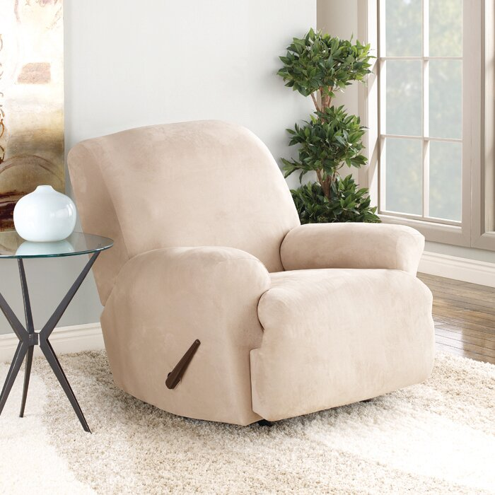 Stretch Suede T-Cushion Recliner Slipcover & Sure Fit Stretch Suede T-Cushion Recliner Slipcover u0026 Reviews ... islam-shia.org