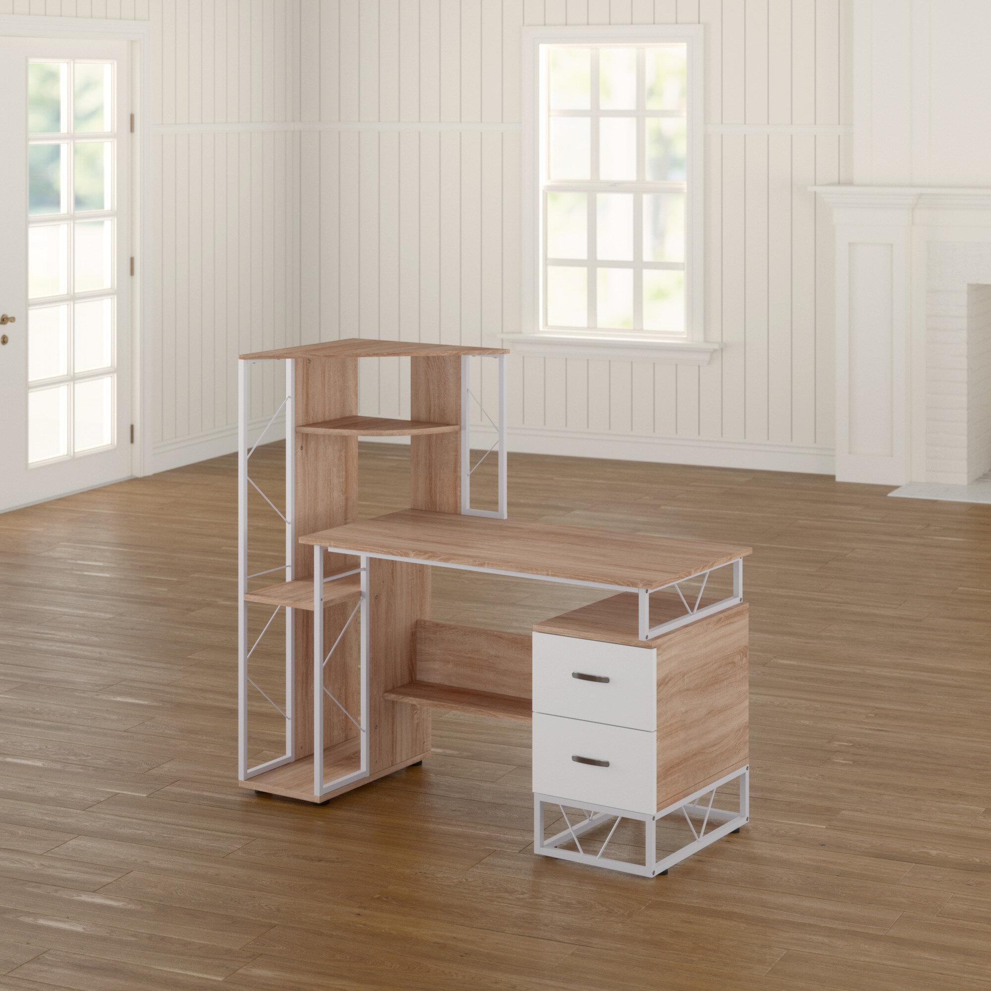 - Winston Porter Marcucci Workstation Computer Desk & Reviews Wayfair