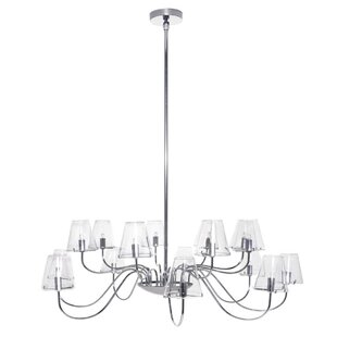 Orren Ellis Alamak 16-Light Shaded Chandelier