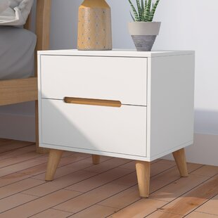 Arledge 2 Drawer Bedside Table By Hykkon