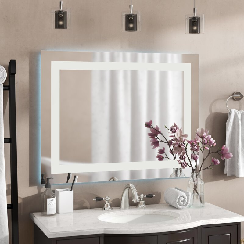 Brayden Studio® Liveva Bathroom/Vanity Mirror Recessed ...