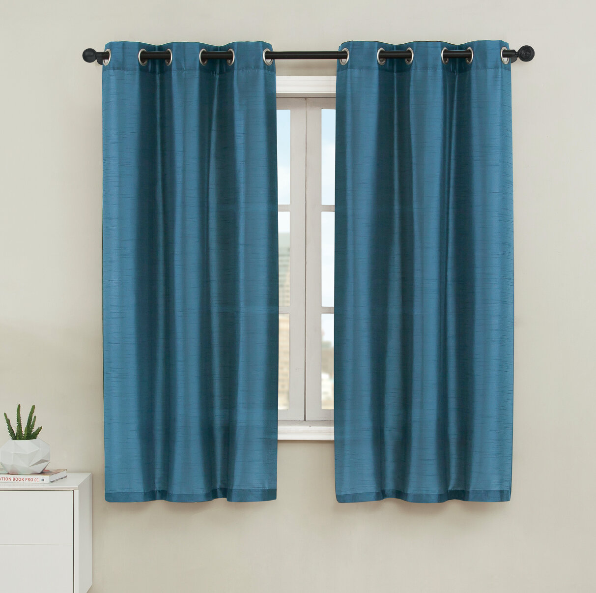 Charlton Home Middleburgh Solid Color Semi Sheer Outdoor Grommet ...