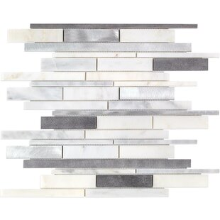 Urban Random Sized MetalMarble Mosaic Tile