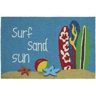 Grant Surf Sand Sun Doormat by Breakwater Bay