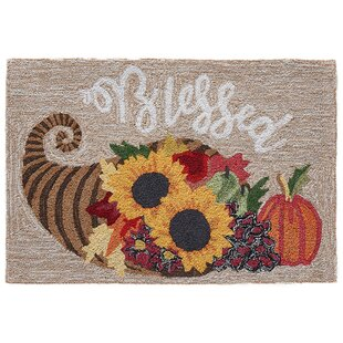 Treport Blessed Hand-Tufted Brown Indoor/Outdoor Area Rug