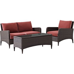 Mosca 3 Piece Sofa Set with Cushions