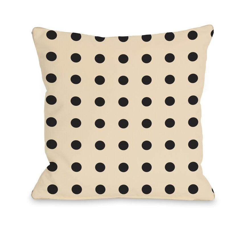 Polka Dots Throw Pillow - Shop Drew's Honeymoon House {Jonathan's Guest Suite}