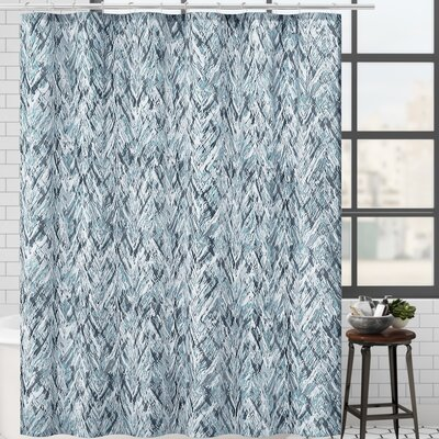 17 Stories Galya Single Shower Curtain  Color: Blue/Gray