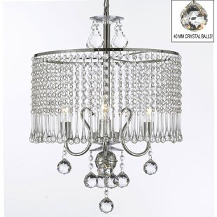 Howerton 3-Light Crystal Chandelier By Orren Ellis Ceiling Lights