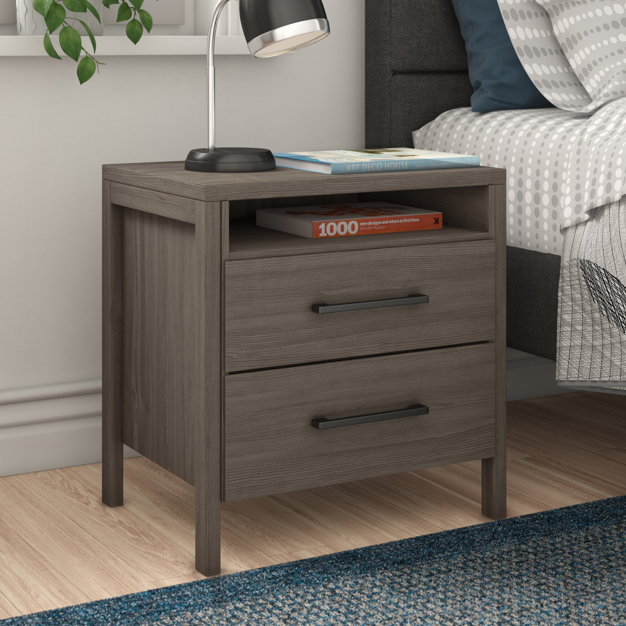 Zipcode Design Gassville 2 Drawer Nightstand Reviews Wayfair