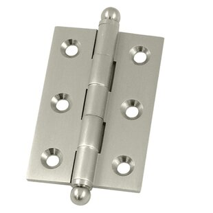 2.5 H x 1.7 W Butt/Ball Bearing Single Door Hinge by Deltana