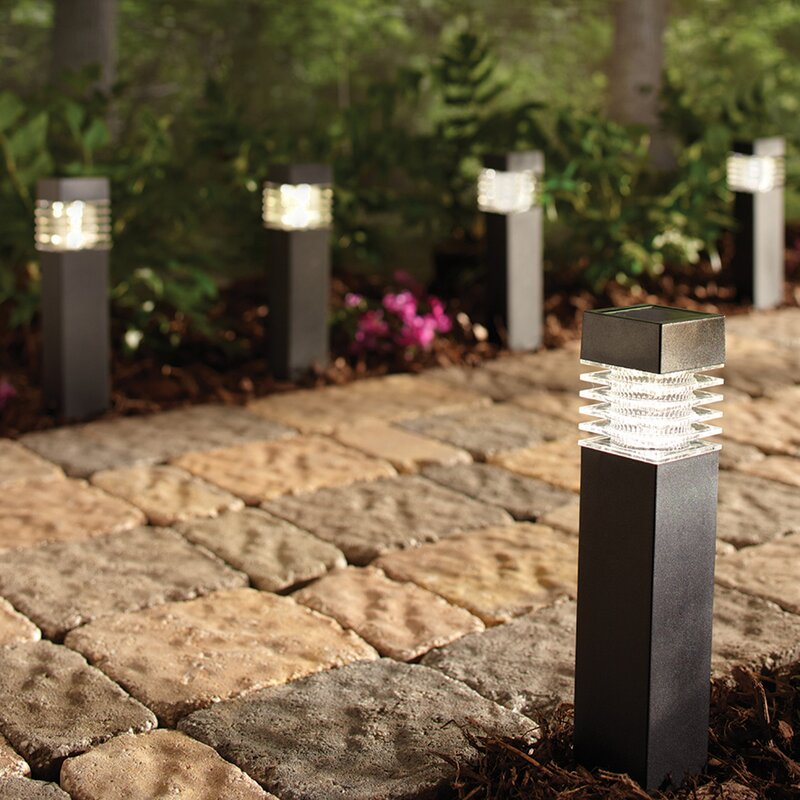 Sterno Home Black Solar Bollard Lights
