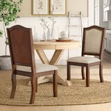 Chevaliers Linen Upholstered Side Chair in Dark Cherry (Set of 2) by Birch Lane™ Heritage