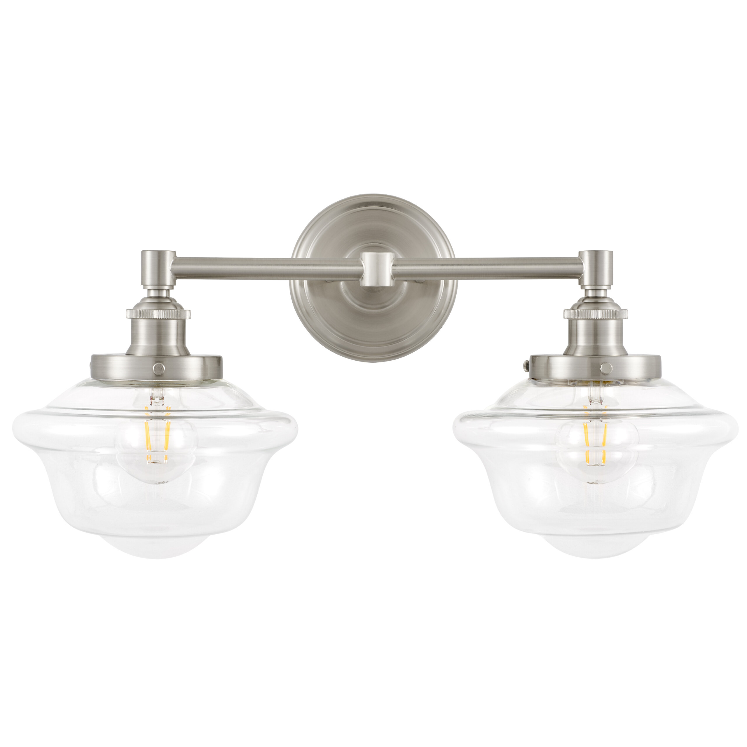 Brushed Nickel Cottage Country Bathroom Vanity Lighting You Ll Love In 2021 Wayfair