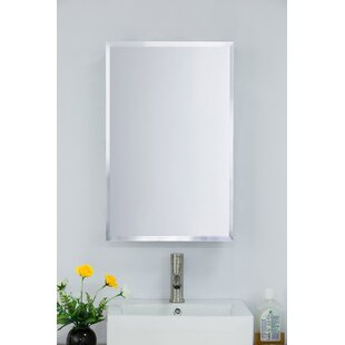 Geordie  Surface Mount Frameless 1 Door Medicine Cabinet with 3 Adjustable Shelves
