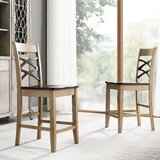 Velasquez Double Crossback 23.5 Counter Stool (Set of 2) by Rosalind Wheeler