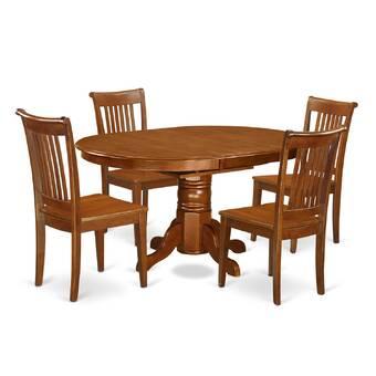 August Grove Spurling 7 Piece Solid Wood Dining Set Reviews Wayfair