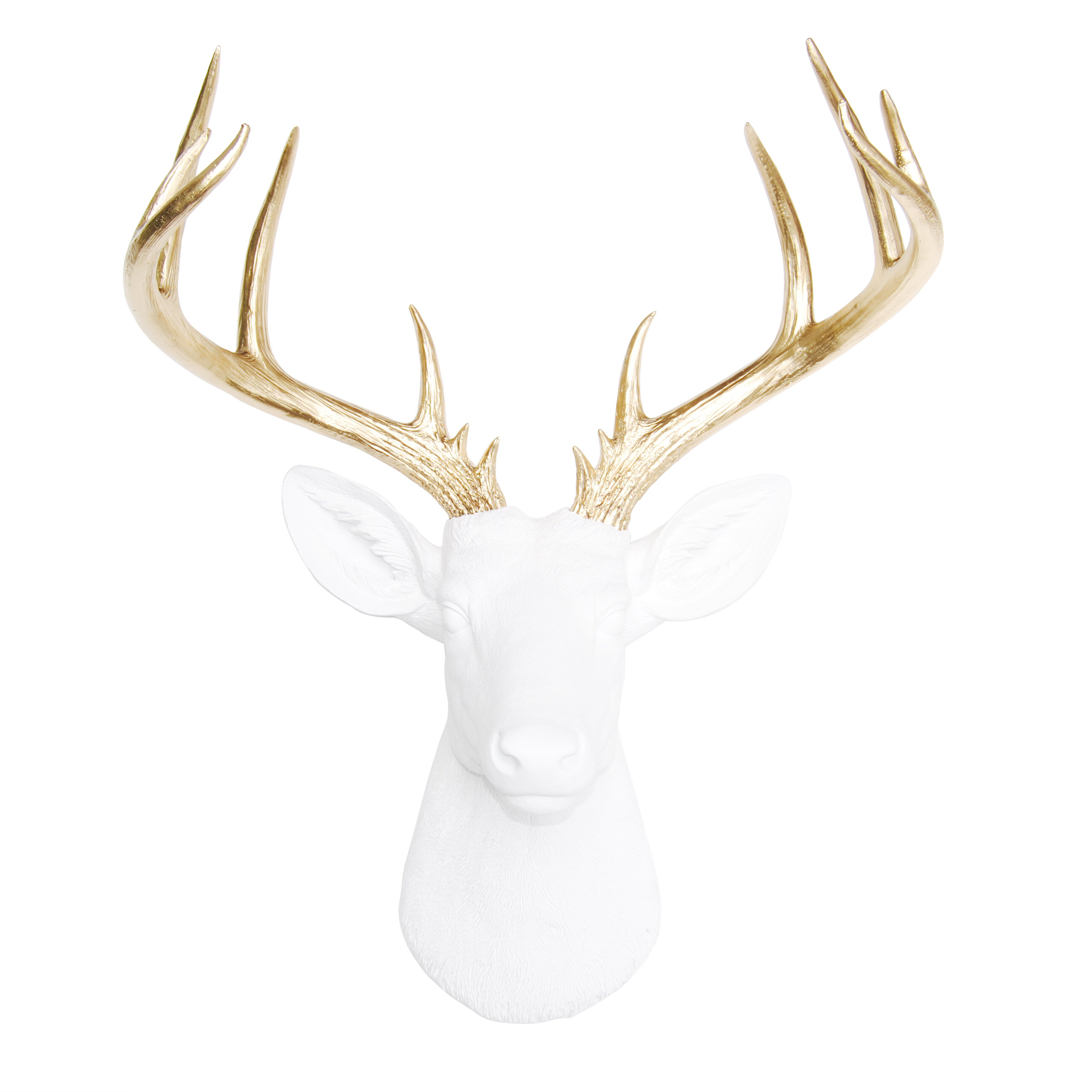 Brayden Studio Large Deer Head Faux Taxidermy Wall Décor