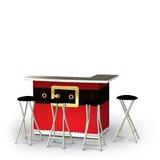 Zetzaf Christmas Santa Claus 5-Piece Bar Set