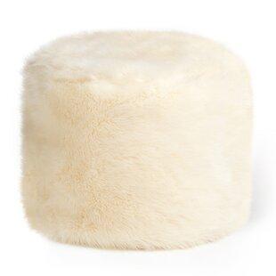 Buy Sale Cierra Faux Fur Pouffe