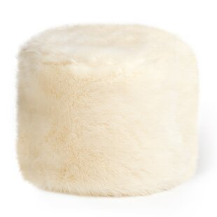 Compare Price Cierra Faux Fur Pouffe