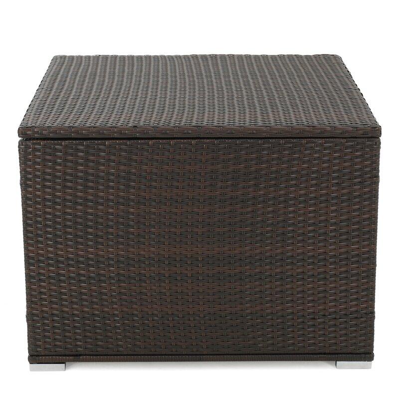 Mercury Row Benbow 70 Gallon Wicker Deck Box