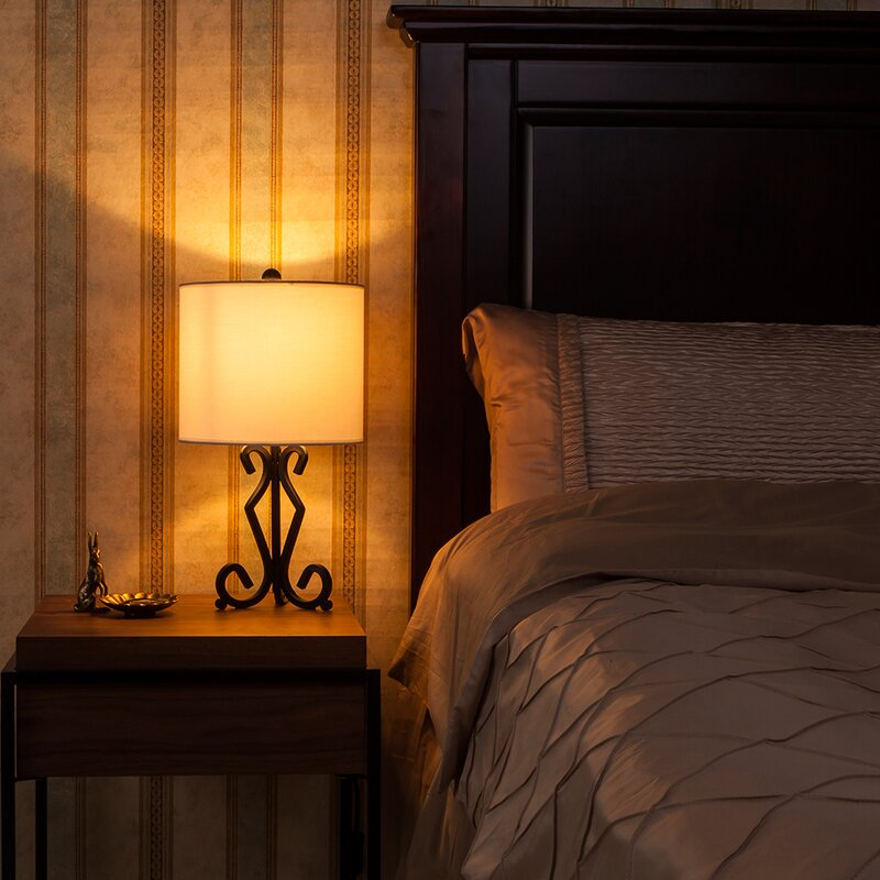 bedroom bedside table lamp modern reading home nightstand