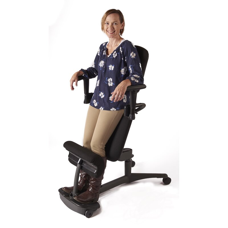 Stance Angle Mid-Back Kneeling Chair  sc 1 st  Wayfair & Health Postures Stance Angle Mid-Back Kneeling Chair | Wayfair