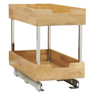 2 Tier Wood Pull Out Pantry