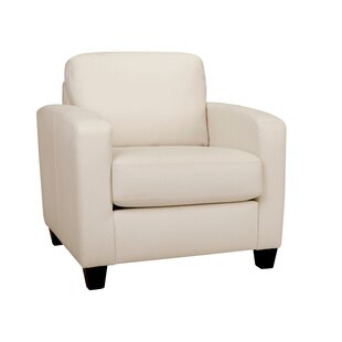 Latitude Run Woodby Leather Armchair
