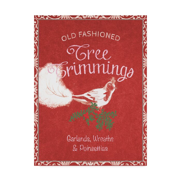 Christmas Signs.Chalkboard Christmas Signs Iii On Red Vintage Advertisement On Wrapped Canvas
